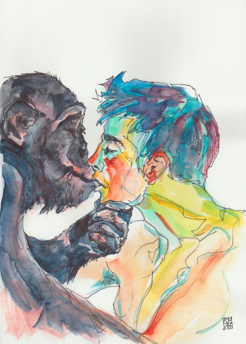 beso_gorila